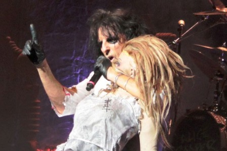 Alice Cooper and his doll