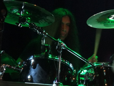 Carlos playing drums with Annihilator