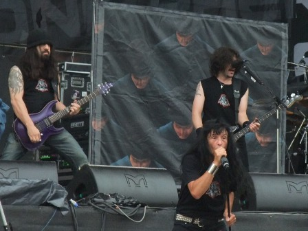 Rob Caggiano, Joey Belladonna and Frank Bello from Anthrax a the Sonisphere Bucharest