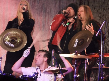 Amanda Somerville, Felix Bohnke, Michael Kiske and Jørn Lande with Avantasia live in Germany