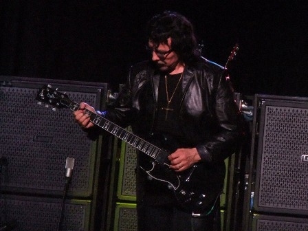 Tony Iommi on guitars with Black Sabbath