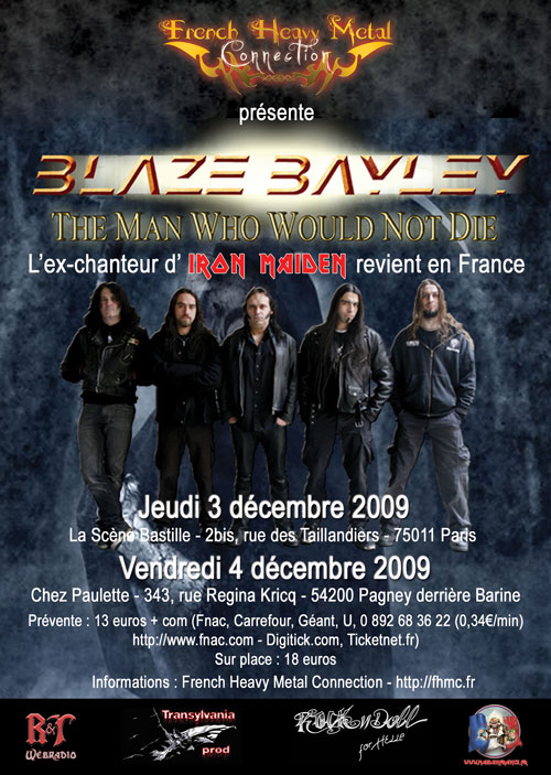 Poster and flyer for Blaze live at The Scène Bastille