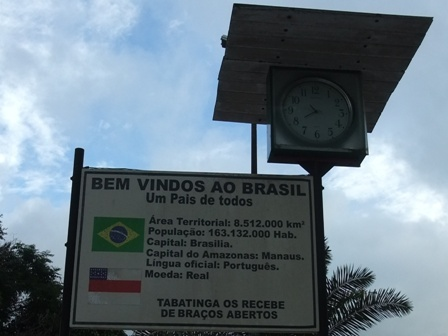 Border crossing in the Amazon: Welcome to Brazil