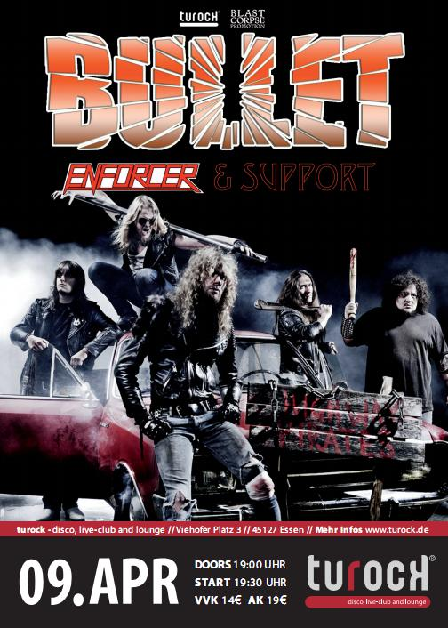 Poster from Bullet live in Essen