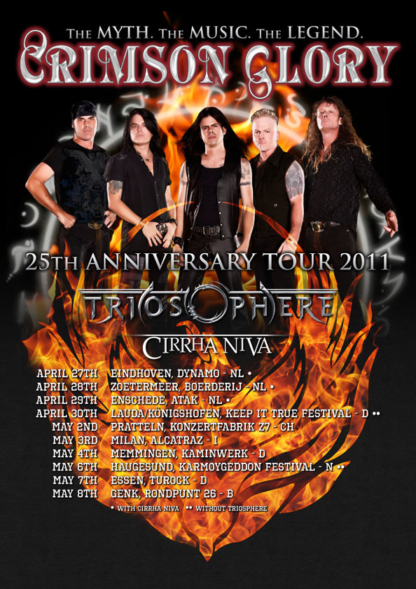 Poster from Crimson Glory 25 Anniversary Tour