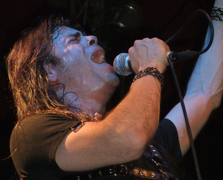 Todd La Torre on vocals - Crimson Glory on stage in Germany
