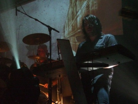 Anders Jivarp and Martin Brandstr�m of Dark Tranquillity live at La Locomotive, Paris, France, October 28 2008