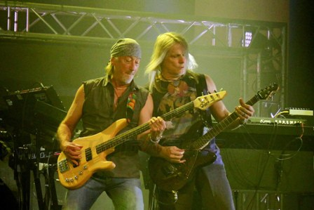 Roger Glover and Steve Morse in Paris with Deep Purple