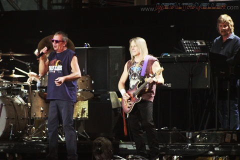Ian Gillan and Steve Morse from Deep Purple on stage in Clisson