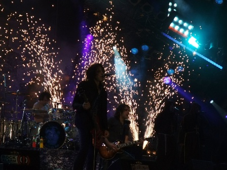 Fireworks os stage during Doro concert at Wacken
