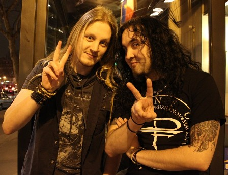Marc and Fred from Dragonforce