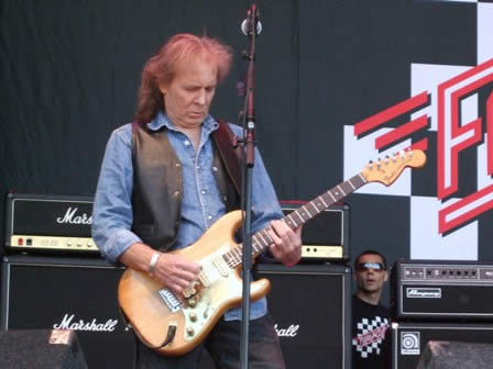 Fast Eddie Clarke from Fastway live at Sweden Rock Festival, Sweden, June 2008