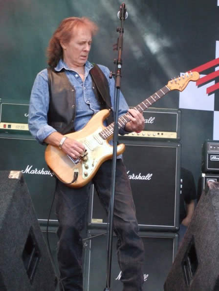 Fast Eddie from Fastway live at Sweden Rock Festival, Sweden, June 2008