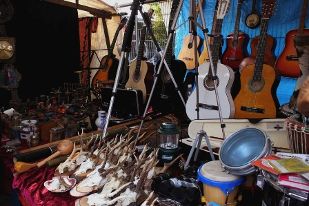 Guitars at the flea market of Mauer Park