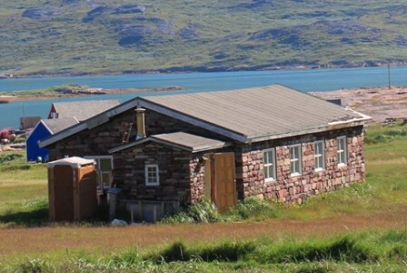 A house in the town of Igaliku, Greenland
