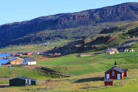 The Town Of Qassiarsuk In Greenland Metal Traveller