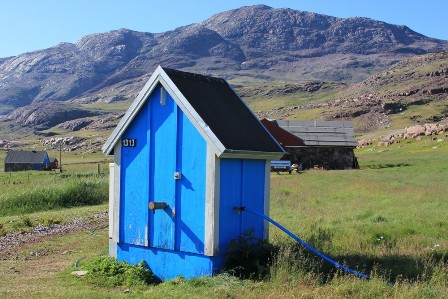 The water well in Igaliku in Greenland