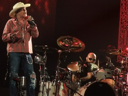 Frank Ferrer with cowboy Axl Rose