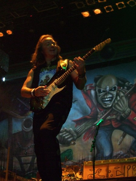 Dave Murray from Iron Maiden - Belgrade Arena, Serbia - February 10 2009
