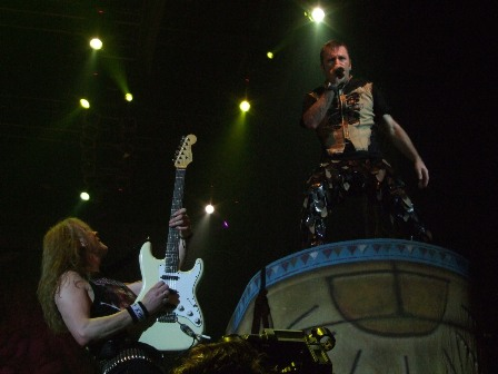 Janick Gers and Bruce Dickinson - Iron Maiden in Belgrade Arena, Serbia - February 10 2009