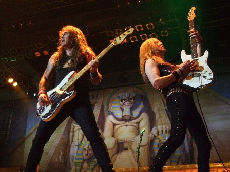 Steve Harris and Janick Gers - Iron Maiden in Belgrade Arena, Serbia - February 10 2009