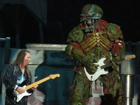 Eddie playing guitar - Iron Maiden the Final Frontier