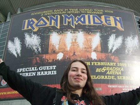 Metal Traveller in Belgrade Arena for Iron Maiden