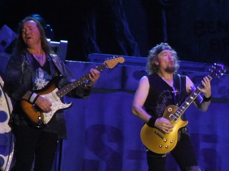 Adrian Smith and Dave Murray from Iron Maiden live in Valencia