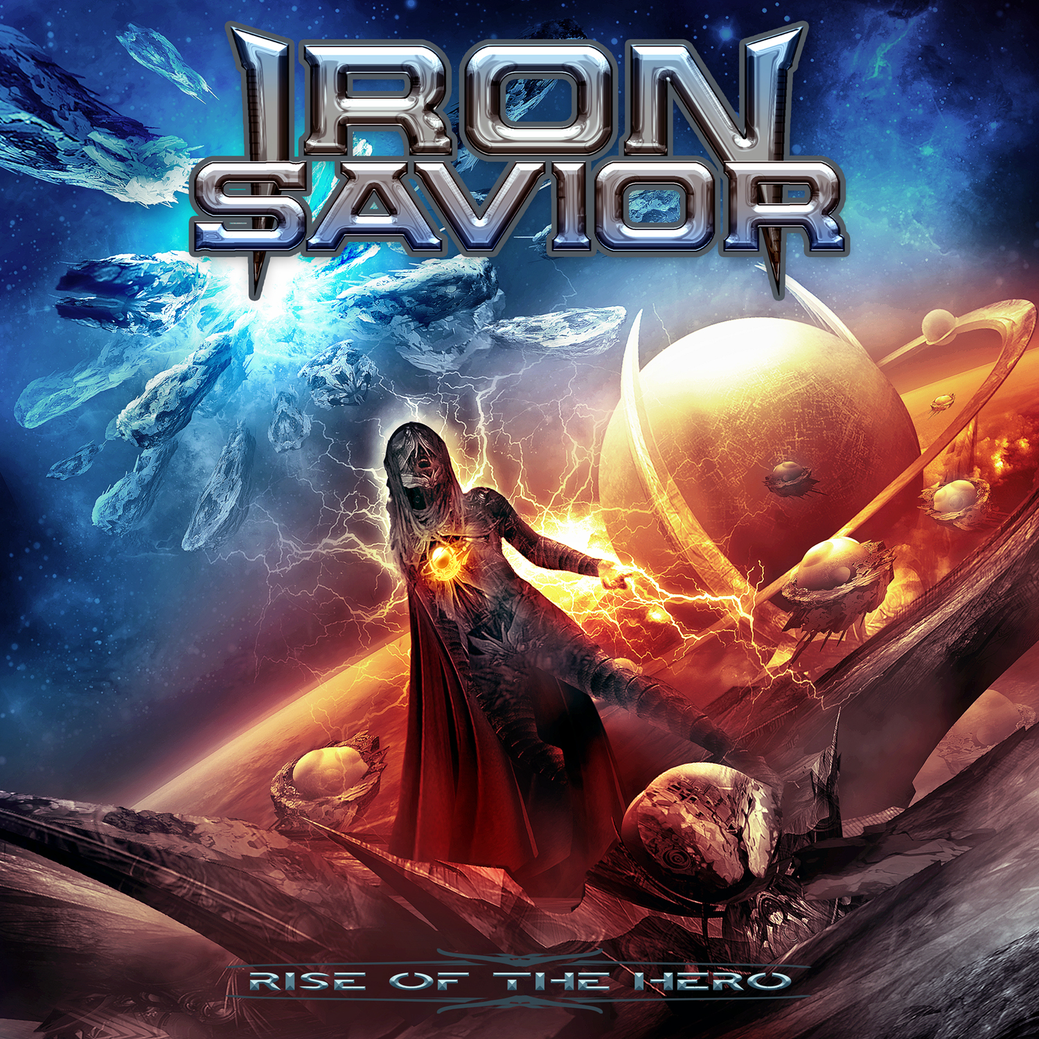 Iron Savior Rise Of The Hero album cover