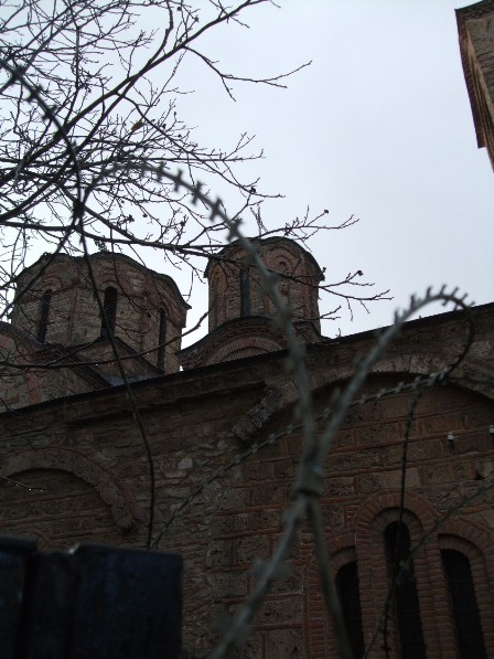 Barbed wires: A sad view of the Church Of Our Lady Of Ljeviska - Prizren, Kosovo