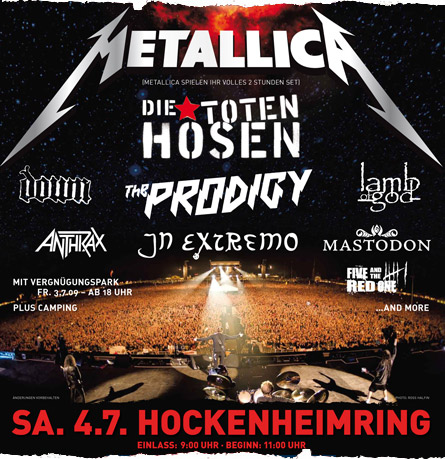 They were all for Metallica at Hockenheimring on Sonisphere Festival