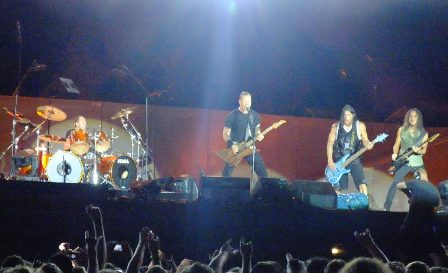 James, Lars, Robert and Kirk - Metallica in Hockenheim