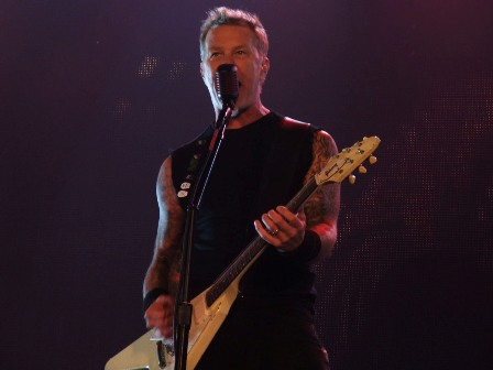 James Hetfield at the Stade de France live with Metallica