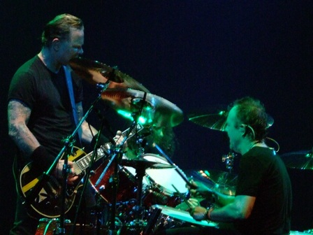 James Hetfield and Lars Ulrich from Metallica playing at Wiener Stadthalle, Vienna