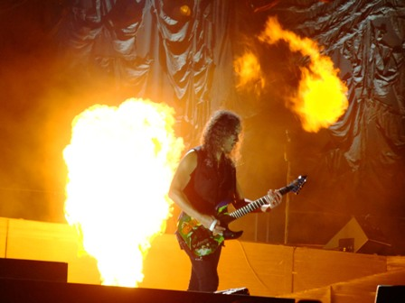 Kirk Hammett from Metallica in Werchter - July 5 2009