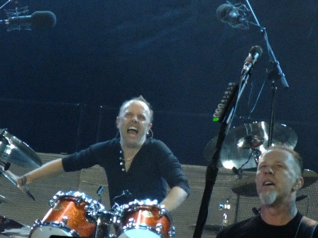 Lars Ulrich pulling faces Metallica in Werchter - July 5 2009