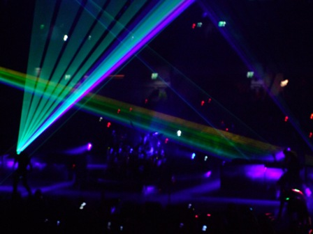 Laser lights on Metallica's stage