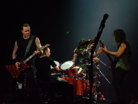James, Lars, Robert and Kirk - Metallica in Vienna