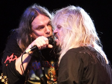 Phil McCormack and Bobby Ingram from Molly Hatchet in Paris