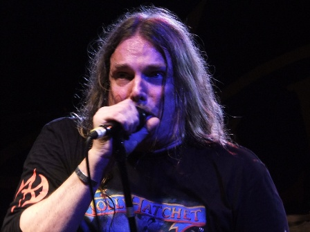 Phil McCormack singing with the mighty Molly Hatchet in Paris