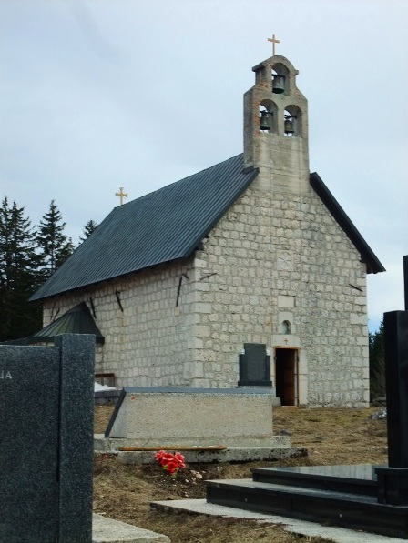 Saborna Crkva Svetog Preobrazenja (The Church of the Holy Transfiguration) in Zabljak, built in 1862.