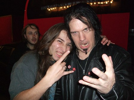 David Vincent of Morbid Angel and Metal Traveller, Paris, November 2008