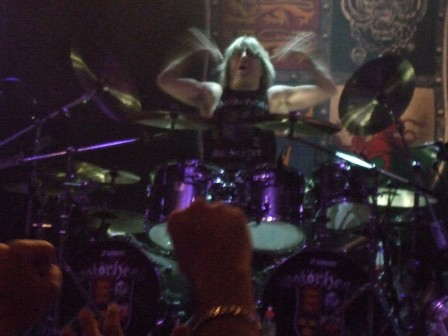 Mikkey Dee from Motorhead in Paris - November 26, 2008