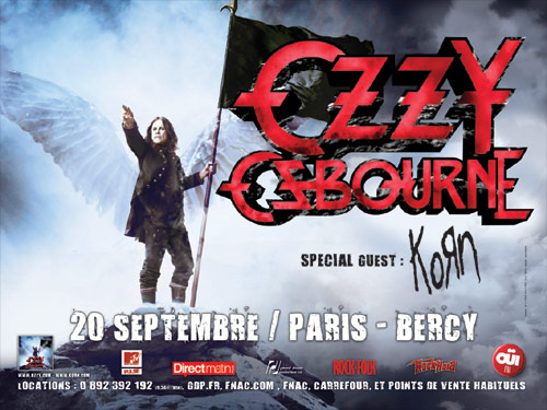 Poster from Ozzy live in Paris