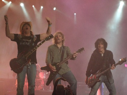 Bret Michaels, C.C. Deville and Bobby Dall from Poison - Sweden Rock Festival - June 7 2008