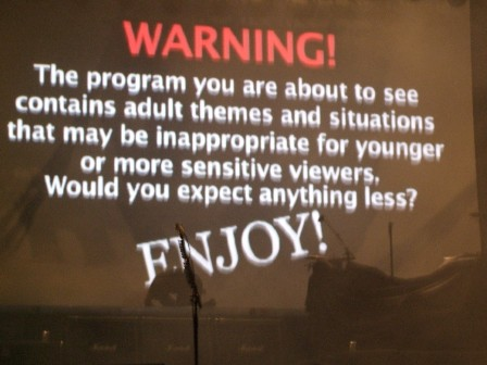 A warning before the Poison show...