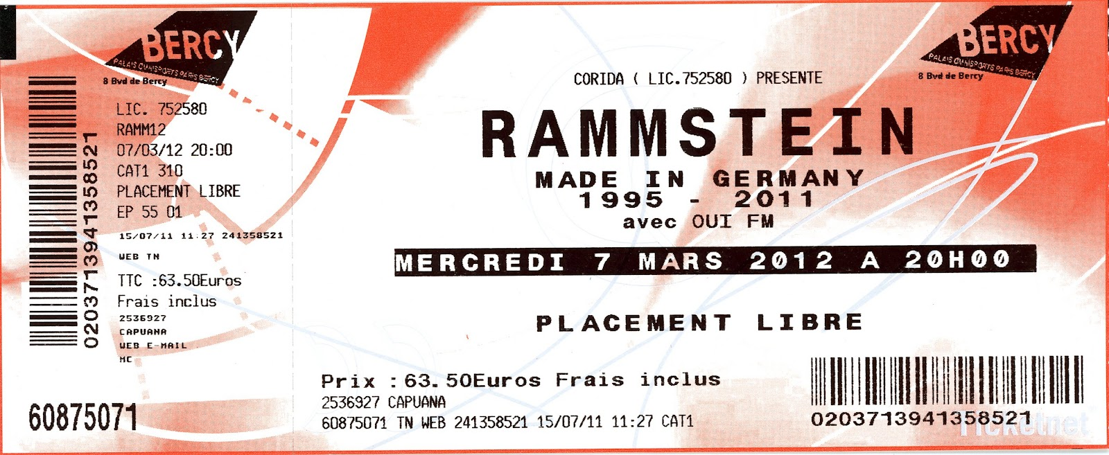 Rammstein Karten Rostock