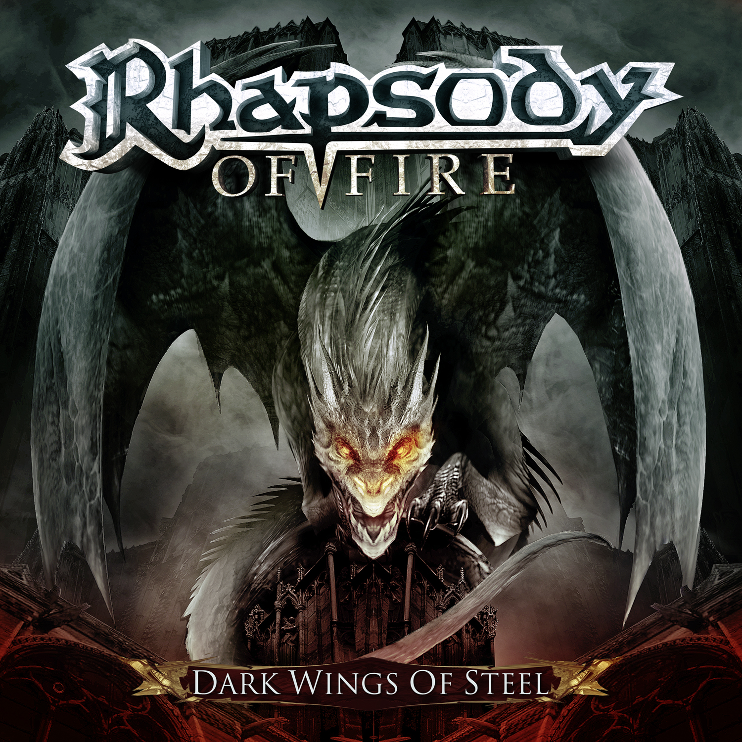 Rhapsody Of Fire Dark Wings Of Steel album cover