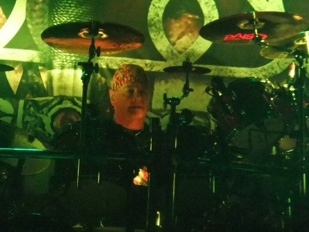 Nigel Gloclker on drums