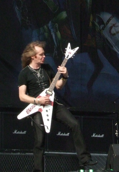 Doug Scaratt from Saxon live at Graspop Festival, Belgium, June 2008